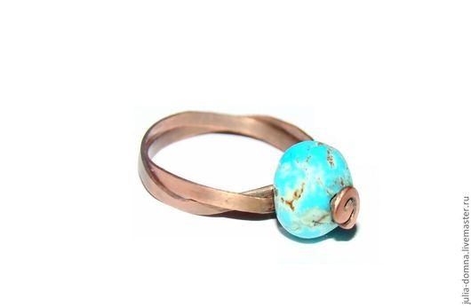 кольцо с бирюзой Дева в Голубом авторская ручная работа
