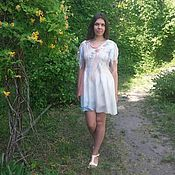 Одежда handmade. Livemaster - original item Tunic dress, Nuno-felt Vanilla temptation. Handmade.