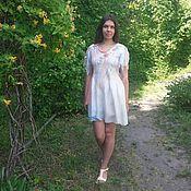 Одежда ручной работы. Ярмарка Мастеров - ручная работа Платье-туника нуно-войлок Vanilla temptation. Handmade.