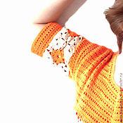 Одежда ручной работы. Ярмарка Мастеров - ручная работа Туника  Оранжевое лето. Handmade.