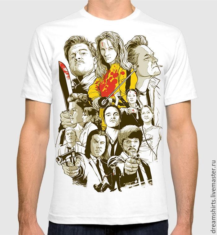 """Футболка хлопковая """"Тарантино"""", T-shirts, Moscow,  Фото №1"""