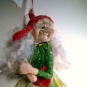 """Куклы и игрушки ручной работы. Ярмарка Мастеров - ручная работа Куколка""""На метле !"""". Handmade."""