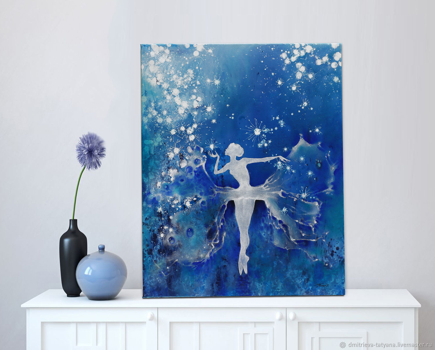 Ballerina oil painting is a Magical dance transformation among the stars, Pictures, Schyolkovo,  Фото №1