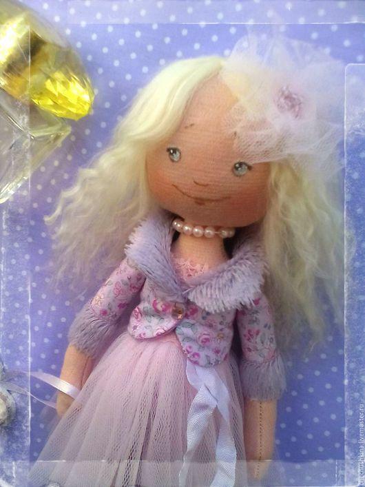 Коллекционные куклы ручной работы. Ярмарка Мастеров - ручная работа. Купить Текстильная кукла Николь.. Handmade. Бледно-сиреневый
