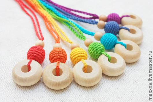 """Развивающие игрушки ручной работы. Ярмарка Мастеров - ручная работа. Купить Слингокулончики (слингобусы) """"Все цвета радуги"""". Handmade. Слингобусы"""