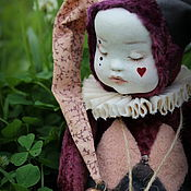 Куклы и игрушки handmade. Livemaster - original item Sleepy clown.... Handmade.