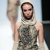 handmade. Livemaster - original item 3D Dress genuine leather