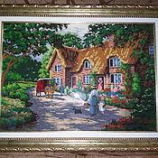 Картины и панно ручной работы. Ярмарка Мастеров - ручная работа красивый летний домик. Handmade.