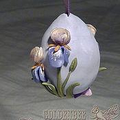 Подарки к праздникам ручной работы. Ярмарка Мастеров - ручная работа Пасхальные яйца мини из полимерной глины (перепелиные). Handmade.