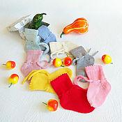 Работы для детей, ручной работы. Ярмарка Мастеров - ручная работа Носочки детские шерстяные с завязочками. Handmade.