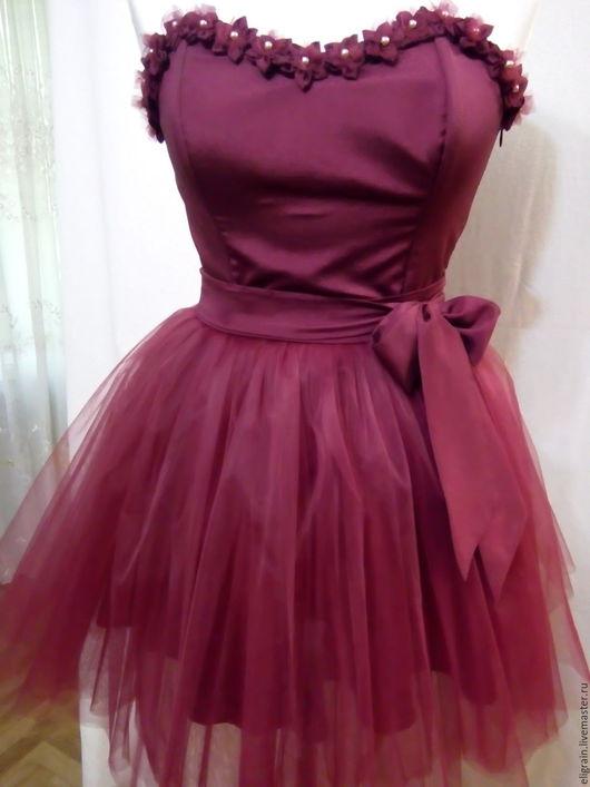 Платья ручной работы. Ярмарка Мастеров - ручная работа. Купить Платье выпускное. Handmade. Бордовый, корсет