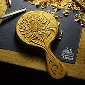 Для дома и интерьера ручной работы. Ярмарка Мастеров - ручная работа Зеркало в деревянной раме Память о лете. Handmade.