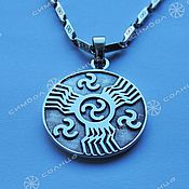 Русский стиль handmade. Livemaster - original item Amulet Seal of Perun (double-sided). Handmade.