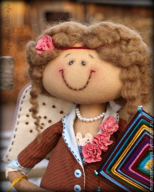 Ароматизированные куклы ручной работы. Ярмарка Мастеров - ручная работа. Купить Фея рукодельница Аделина. Кофейная Ароматизированная Кукла. Handmade.