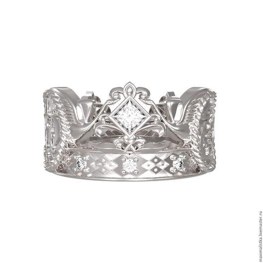 """Свадебные украшения ручной работы. Ярмарка Мастеров - ручная работа. Купить Обручальные кольца """"Лебединая верность"""" с бриллиантами, золото. Handmade."""