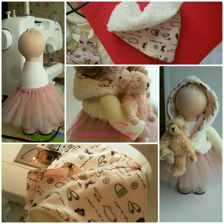 Одежда для текстильных кукол мастер класс