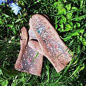 """Аксессуары ручной работы. Ярмарка Мастеров - ручная работа варежки """"Какао"""". Handmade."""