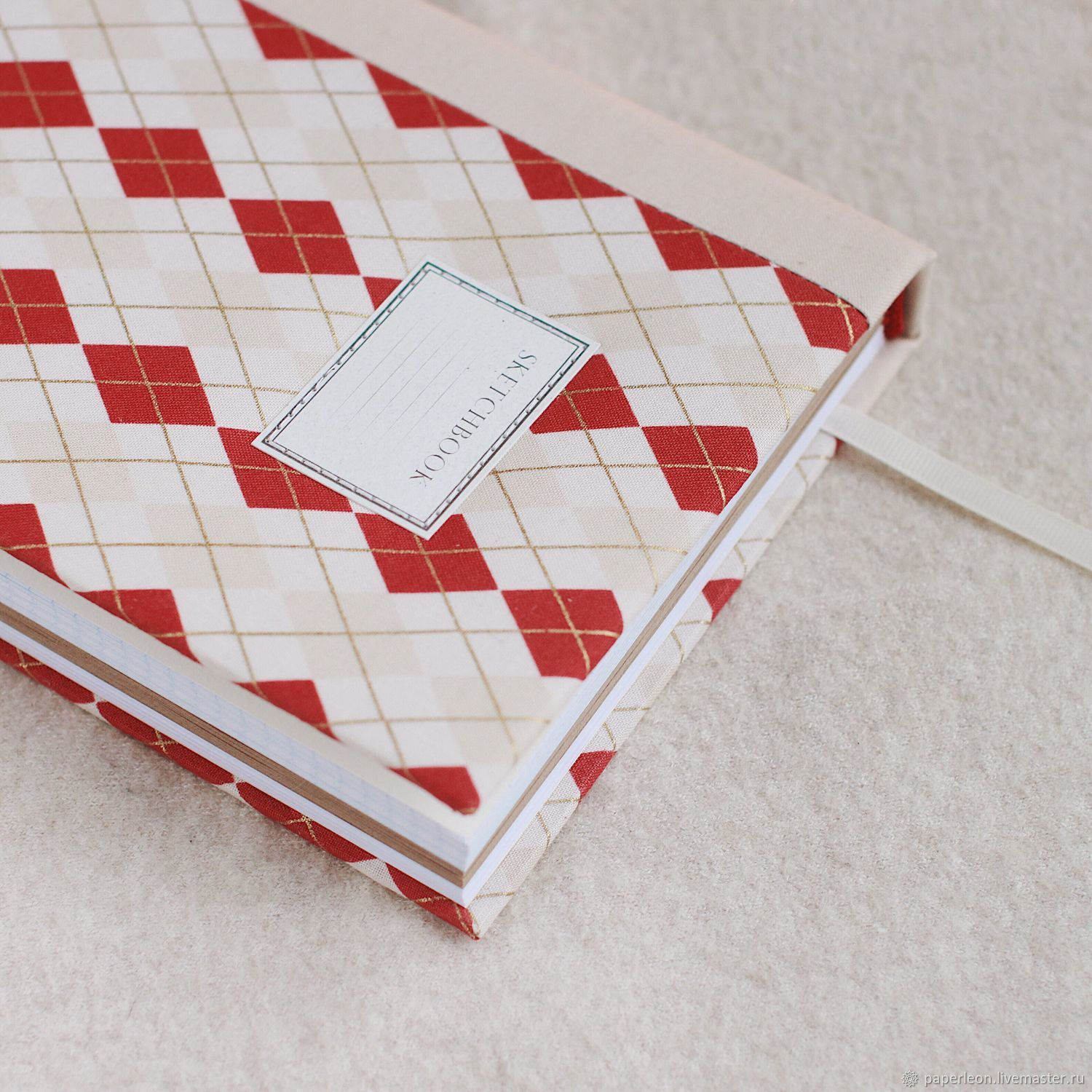 Notepad with fabric cover / A5 / Sketchbook / Ejednevny, Sketchbooks, St. Petersburg,  Фото №1