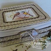 Для дома и интерьера ручной работы. Ярмарка Мастеров - ручная работа Плетеная коробка с крышкой. Handmade.