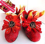 Обувь ручной работы handmade. Livemaster - original item Felted Slippers. Boots for home.. Handmade.
