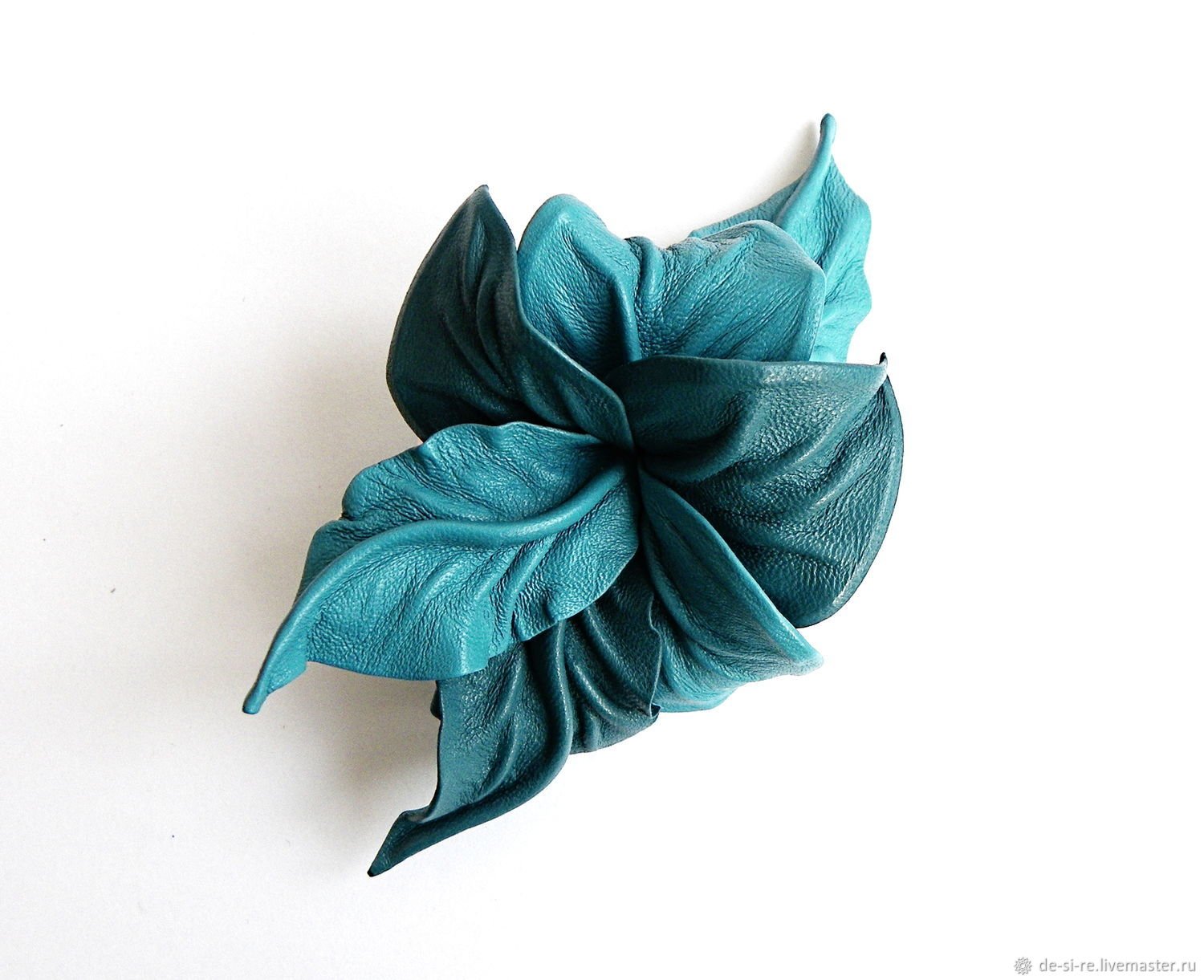 Hair accessory barrette flower Turquoise turquoise, Headwear Sets, Moscow,  Фото №1