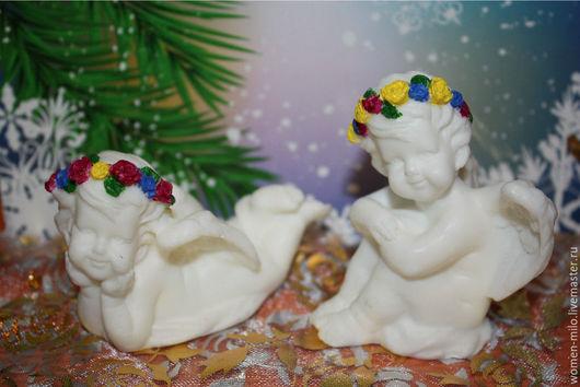Новый год 2017 ручной работы. Ярмарка Мастеров - ручная работа. Купить ангелочки херувимчки к рождеству и новому году. Handmade. Белый
