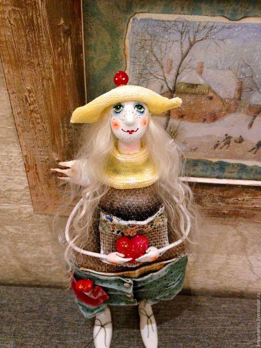 Коллекционные куклы ручной работы. Ярмарка Мастеров - ручная работа. Купить Ангелочек Сильва. Handmade. Комбинированный, подарок, грунтованный текстиль