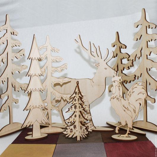 Новогодний набор на камин `Чудеса севера`