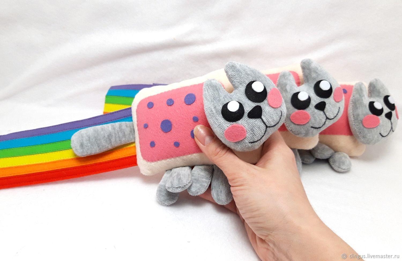 Nyancat нянкэт мини, мягкая игрушка няшный кот Nyan Cat, Мягкие игрушки, Москва,  Фото №1