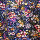 Одежда. Винтажная юбка в пол, р.46-48, бархат, цветы, хиппи, 70-е, БоХо. Messy. Интернет-магазин Ярмарка Мастеров.