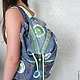 Джинсовый рюкзак `Стильная штучка`, сумки, рюкзаки ручной работы, автор Zhanna Petrakova Atelier Moscow