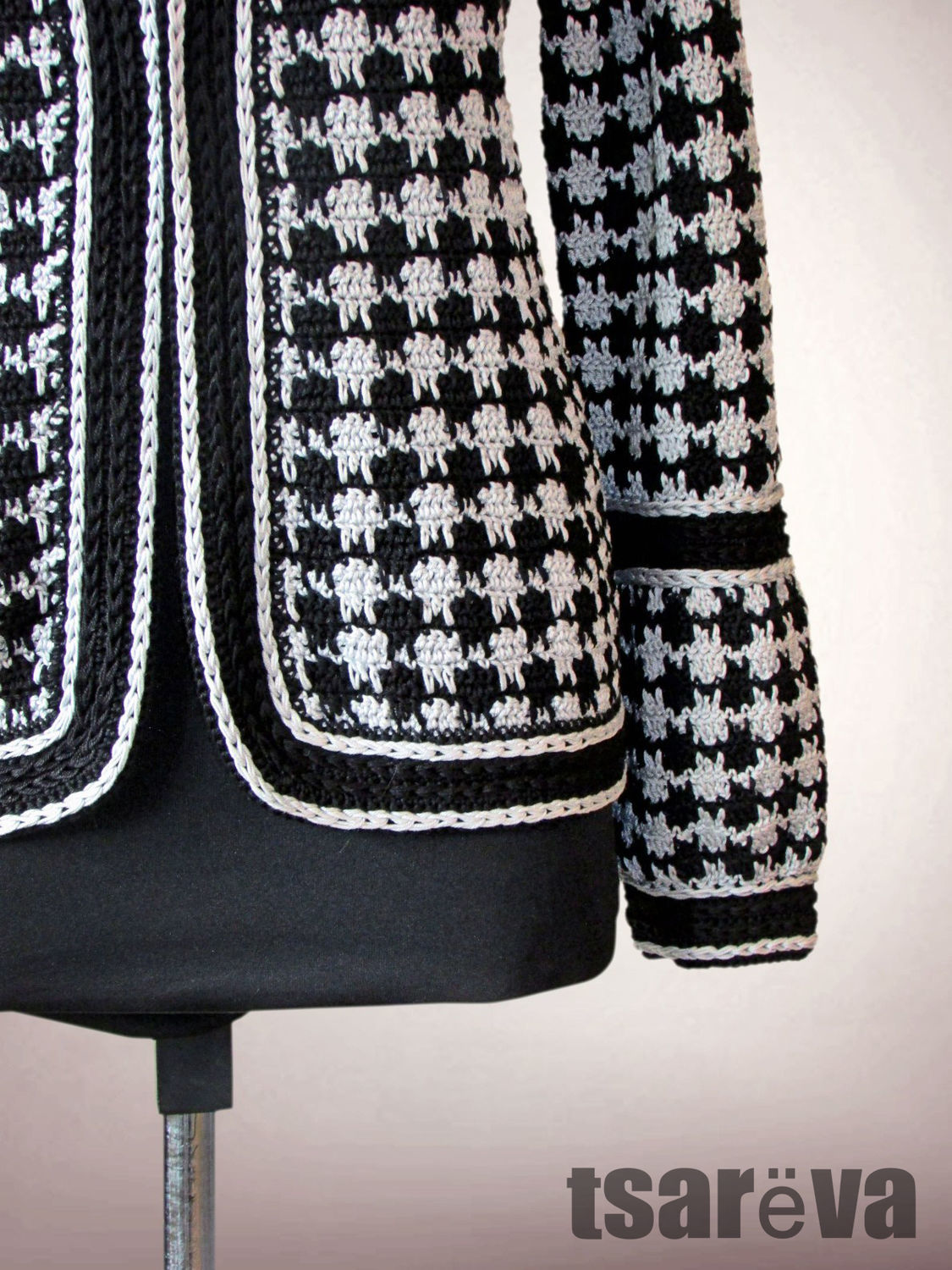 Attractive Houndstooth Pattern Crochet Inspiration - Sewing Pattern ...