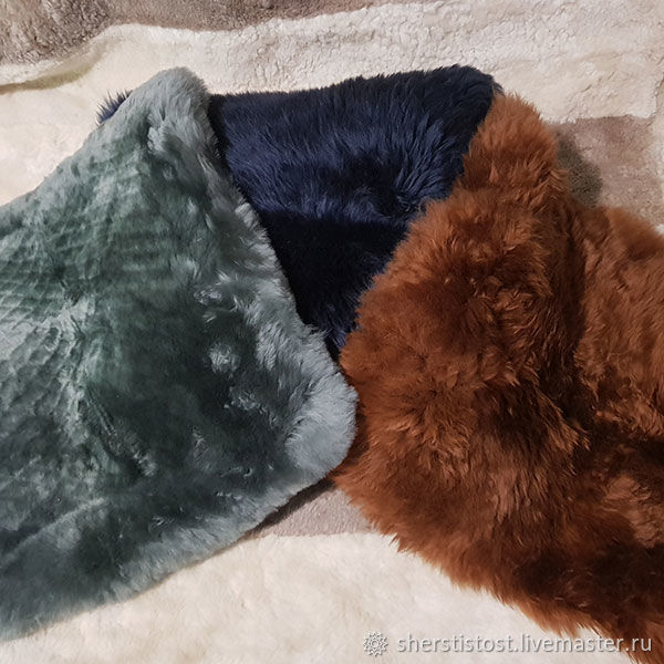 Set of pillows for interior made of sheepskin, Interior elements, Nalchik,  Фото №1