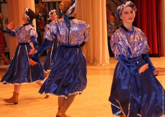 """Танцевальные костюмы ручной работы. Ярмарка Мастеров - ручная работа. Купить Танец """"Завитки"""". Handmade. Тёмно-синий, креп-сатин"""