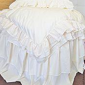 Подарки ручной работы. Ярмарка Мастеров - ручная работа Постельное белье в стиле шебби шик с кружевом. Подарок на свадьбу. Handmade.