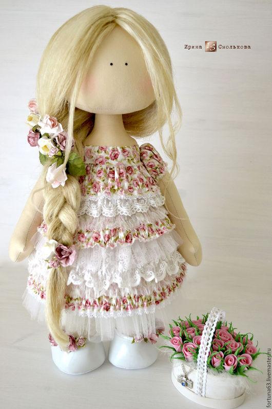 Коллекционные куклы ручной работы. Ярмарка Мастеров - ручная работа. Купить текстильная кукла ЛИЗА. Handmade. Розовый, кукла коллекционная