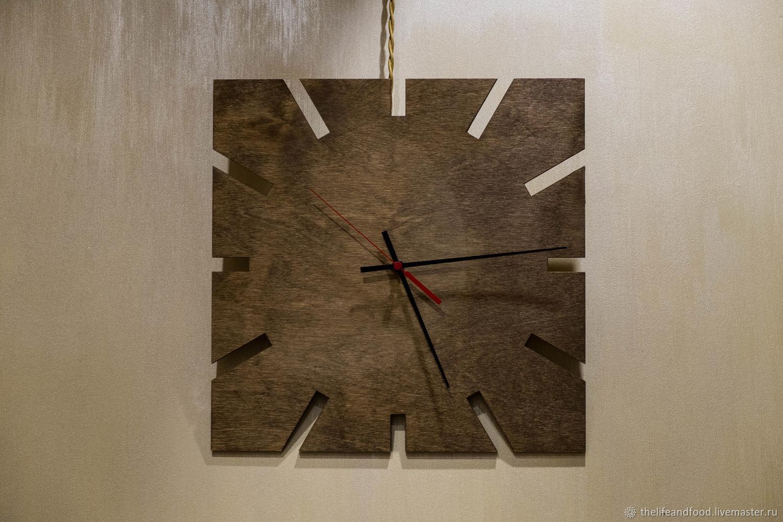 Деревянные часы из фанеры для интерьера. Часы настенные из фанеры, купить часы для интерьера.  Настенные часы из фанеры.