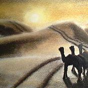 Картины ручной работы. Ярмарка Мастеров - ручная работа Пастель- Пустыня. Handmade.
