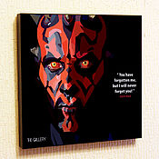 Картины и панно handmade. Livemaster - original item Picture poster Star wars, Darth Maul. Handmade.