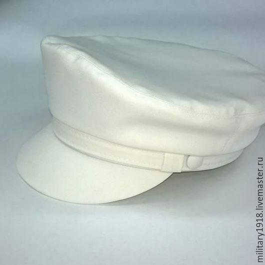 Кепки ручной работы. Ярмарка Мастеров - ручная работа. Купить Атласная капитанка в белом цвете. Handmade. Белый, купить кепку