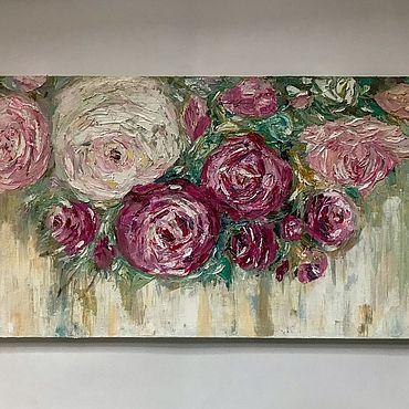 Картины и панно ручной работы. Ярмарка Мастеров - ручная работа Картины: Нежные розы. Handmade.