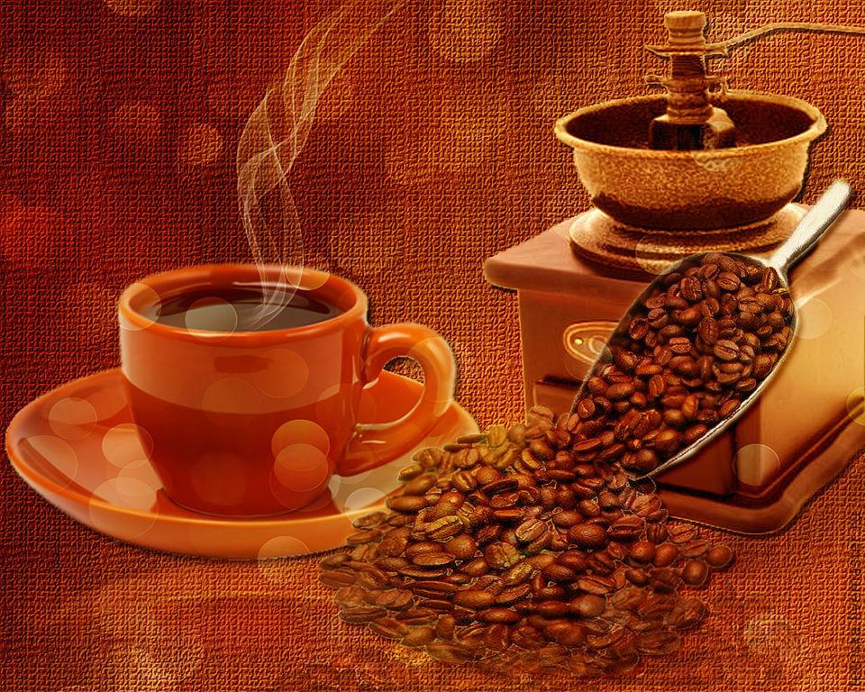 обои на рабочий стол осень кофе уют 15671