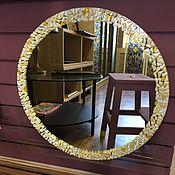 Для дома и интерьера ручной работы. Ярмарка Мастеров - ручная работа Зеркало настенное круглое. Фьюзинг. 55 см. Handmade.