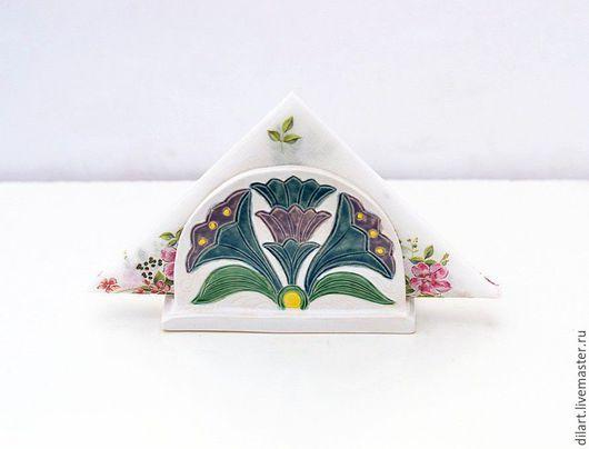 Кухня ручной работы. Ярмарка Мастеров - ручная работа. Купить Салфетница для бумажных салфеток керамическая Флора подарок женщине. Handmade.