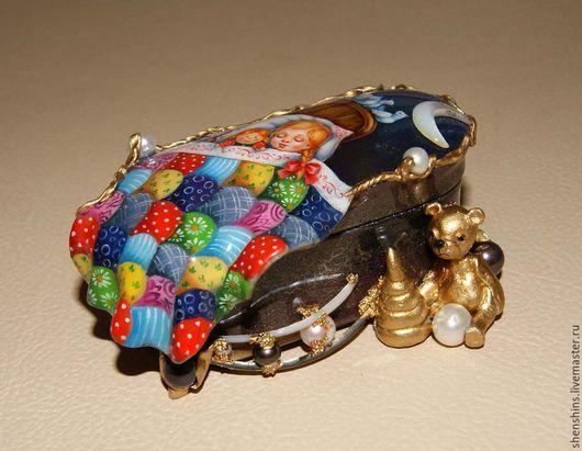 """Шкатулки ручной работы. Ярмарка Мастеров - ручная работа. Купить шкатулка """"Колыбельная"""". Handmade. Разноцветный, жемчуг натуральный"""