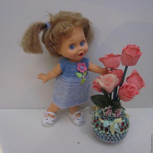 Одежда для кукол ручной работы. Ярмарка Мастеров - ручная работа. Купить Платье из мохера (на рост 30-35 см). Handmade.