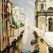 Картины и панно ручной работы. Ярмарка Мастеров - ручная работа прогулка по каналам  венеции. Handmade.