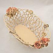 Посуда handmade. Livemaster - original item Oval openwork bowl Transparency. Handmade.