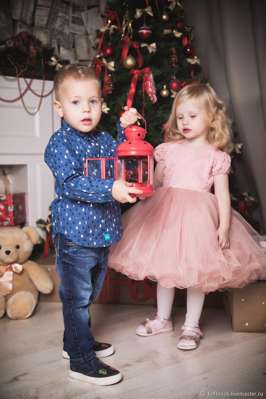 Нарядное платье для девочки Лея (розовое)