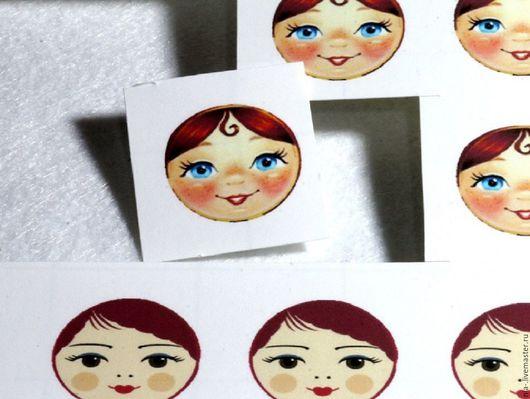 Аппликации, вставки, отделка ручной работы. Ярмарка Мастеров - ручная работа. Купить Термотрансферный рисунок лицо матрёшки. Handmade. Термотрансфер